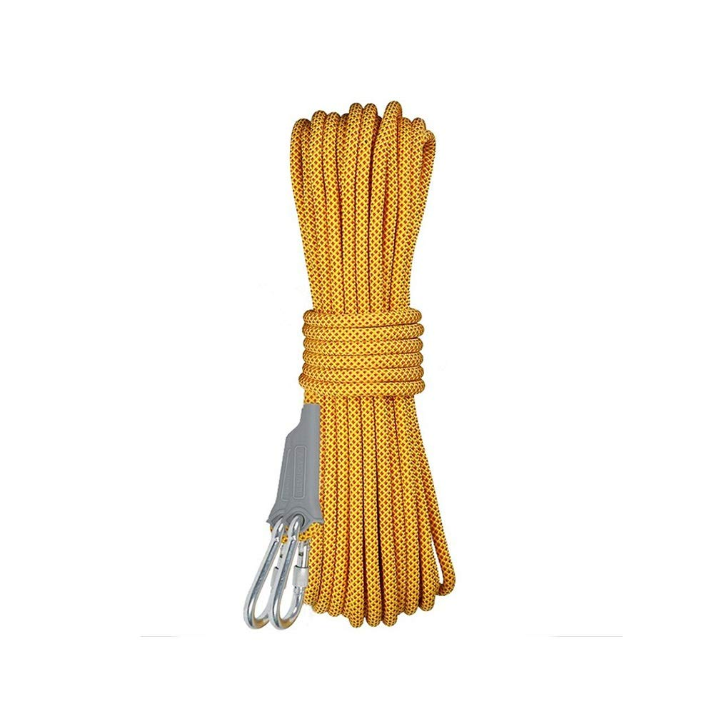 10.5MM Diameter Escape Rope Ice Climbing Equipment Rescue Parachute Rope Professional Outdoor Static Rock Climbing Rope