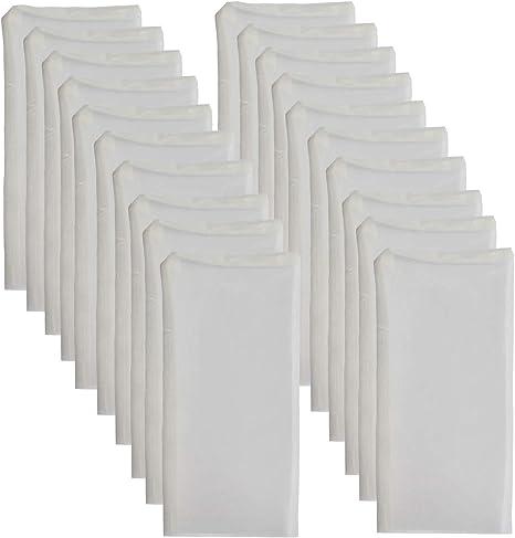 Dulytek Premium Nylon 20 Pcs Filter Bags 2 x 3 100 Micron Double-Stitching Zero Blowouts