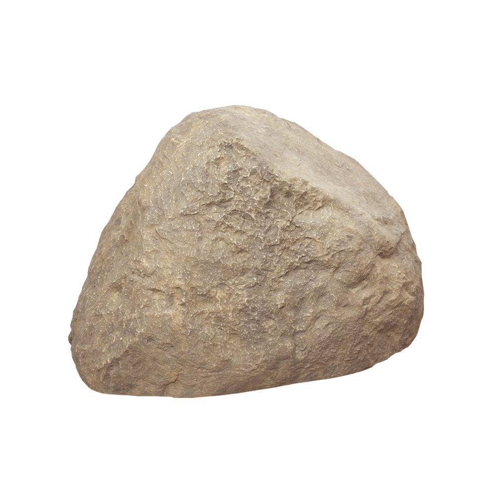 Outdoor essentials faux rock tan small ebay for Large outdoor decorative rocks