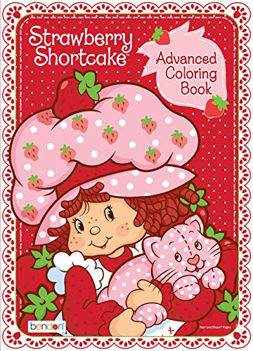 Bendon Strawberry Shortcake Retro 80-Page Advanced Coloring Book (42440) from Bendon