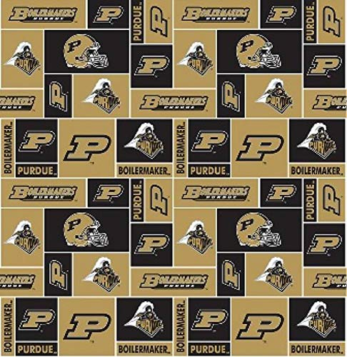 "Purdue University Boilermakers Fleece Fabric - 60"" Wide - Style# PU-012"
