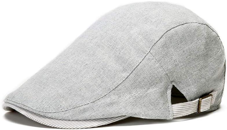 Gorro de algodón y Lino de Inglaterra para Hombre de Invierno y otoño. Sombrero de Marea de Lino. Sombrero Salvaje Simple y Transpirable.: Amazon.es: Hogar