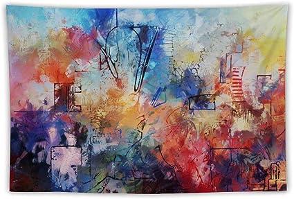 Peinture Abstraite A Suspendre Au Mur Decoration D Interieur Motif Hippie Boheme Mandala Personnalise Amazon Fr Cuisine Maison