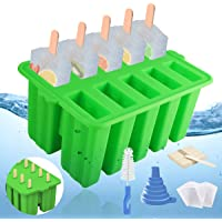 Popsicle Molds 10 Pieces Silicone Popsicle Maker,Reusable BPA Free Popsicle Mold,Silicone Popsicle Mold with Silicone…