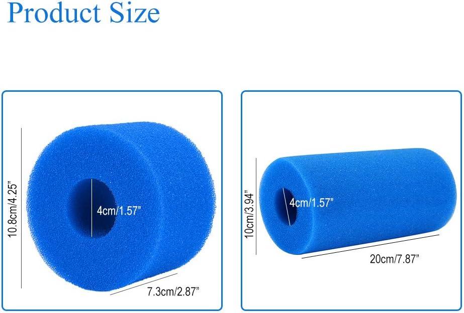 10 Piezas YChoice365 Filtro De Piscina Esponja Coj/ín De Esponja Lavable Reutilizable Filtro De Piscina Cartucho De Espuma Lavabo De Espuma para Intex S1 Tipo SPA
