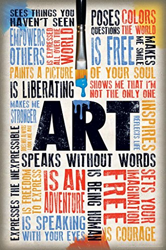 Laminated Art Speaks Without Words Quotes Sign Poster 12x18 inch