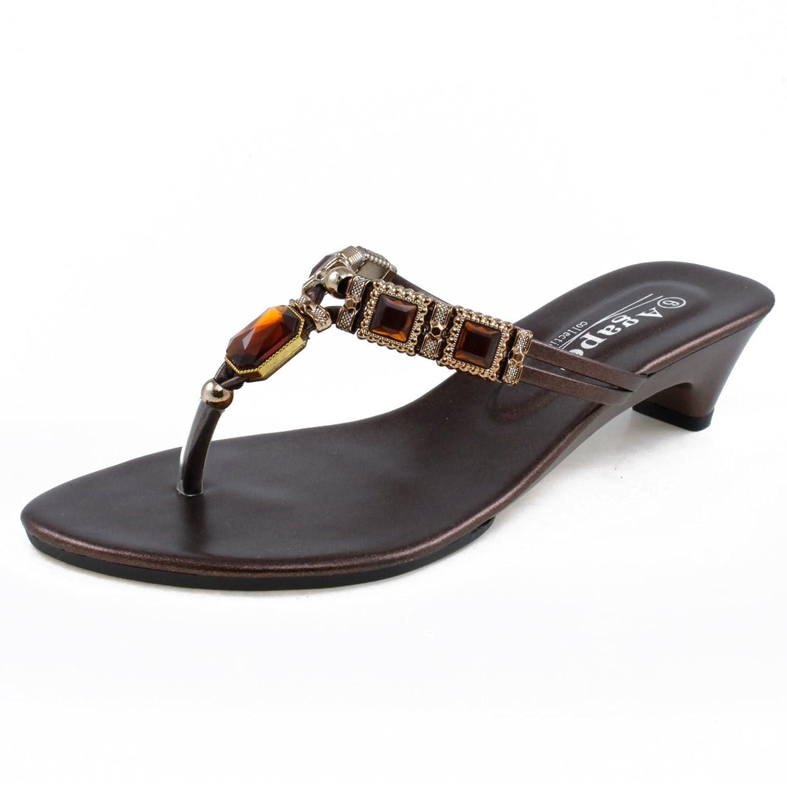 a33de00faf5 Agape VEGA-16 Jeweled Thong Low Heel Large - 1 ...