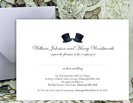 Invitaciones de boda personalizados - 13 x 18 cm - 50 grande ...