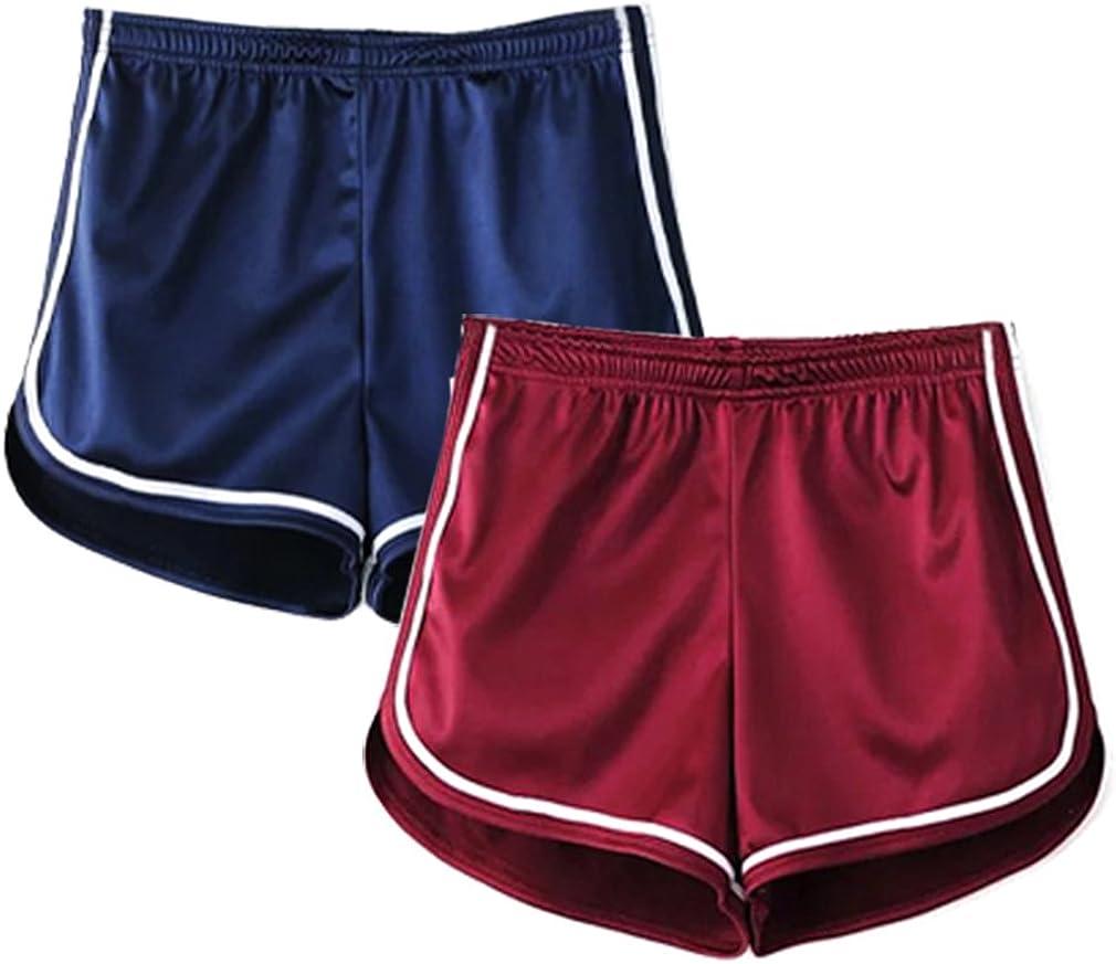 iMixCity Donna Pantaloncini Fascianti da Atletica con Vita Elasticizzata Tipo Dolphin Shorts