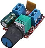 Yeeco DC Motor Speed Control Driver Board 3V-35V 5A PWM Controller Stepless DC 3V 6V 12V 24V 35V Variable Voltage Regulator Dimmer Governor Switching Build with LED Indicator and Switch Function