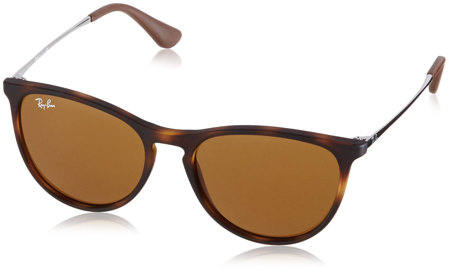 Ray-Ban Girls' Izzy Junior Round Sunglasses, Rubber Havana 700673, 50 mm