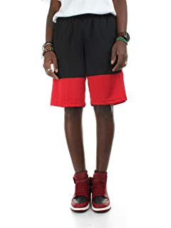 5e61a36bc7e931 Jordan Shorts - Sportswear Last Shot Diamond Mesh Black red Yellow ...