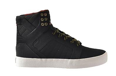 b5f612d21b1 Amazon.com | Supra Skytop Men's Shoes Black/Yellow-White s18228 ...