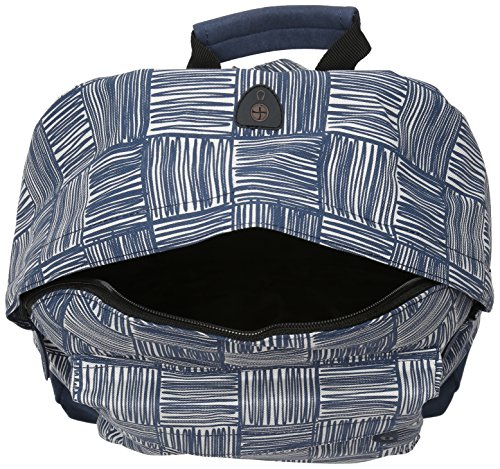 17 Navy Scribble Backpack Pac L Navy Check 41 Mi Daypack cm Casual Rvw8n1CxCq