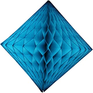 product image for 3-Pack 12 Inch Turquoise Blue Honeycomb Diamond Decoration