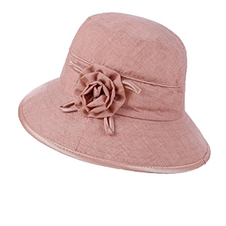 MLNR Sombreros Panamá Mujer Protección UV Borde Ancho di Sombreros ...