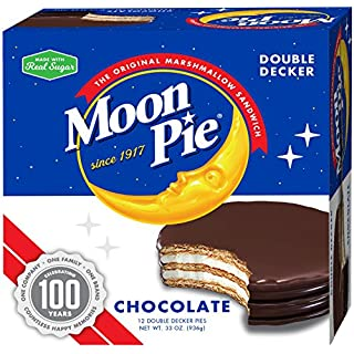 MoonPie Double Decker Chocolate Marshmallow Sandwich - 2oz, 12Count Box (Pack of 6 Boxes, 72Count Total) | Double Layer Chocolate Covered Graham Cracker & Marshmallow Pie
