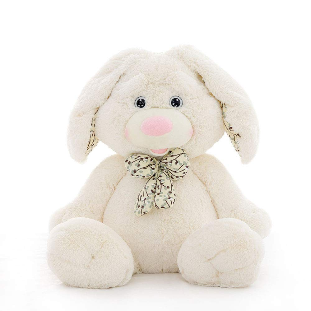 White 90cm Bunny toy, Easter cute rabbit plush doll, baby accompanying sleeping doll,Brown,60cm