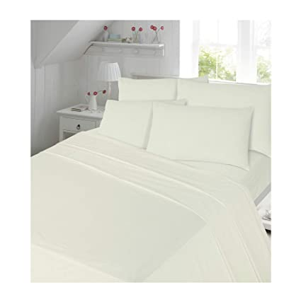 """THERMAL FLANNELETTE 100/% COTTON FITTED SHEET 12/""""//30cm DEEP SINGLE DOUBLE KING"""