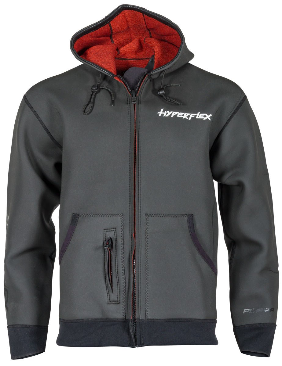 Hyperflex Playa Surf Jacket with Harness, Black, 2X-Large - Surfing, Windsurfing & Wakeboarding by Hyperflex