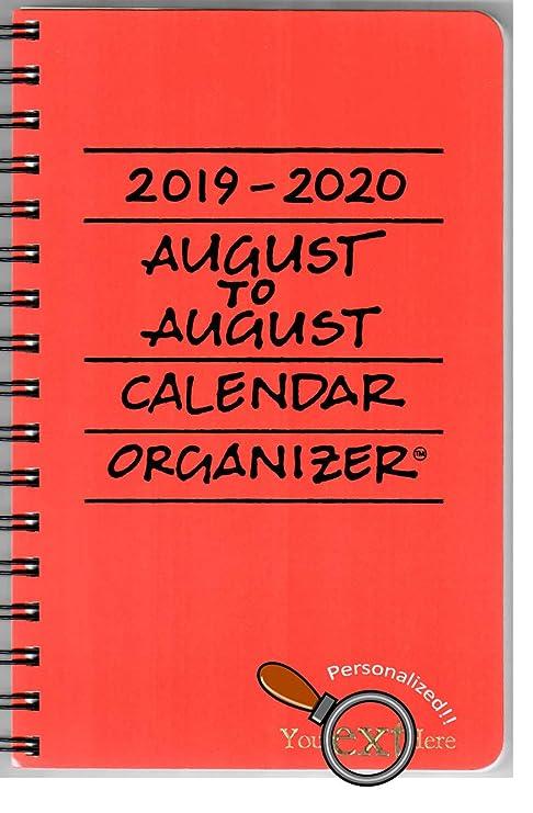 Amazon.com: 2019-2020 organizador de calendario de agosto a ...