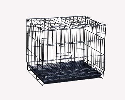 ZSSHJ Jaulas para perros, cama para mascotas Kennel Encryption Jaula de hierro Fold Black 42