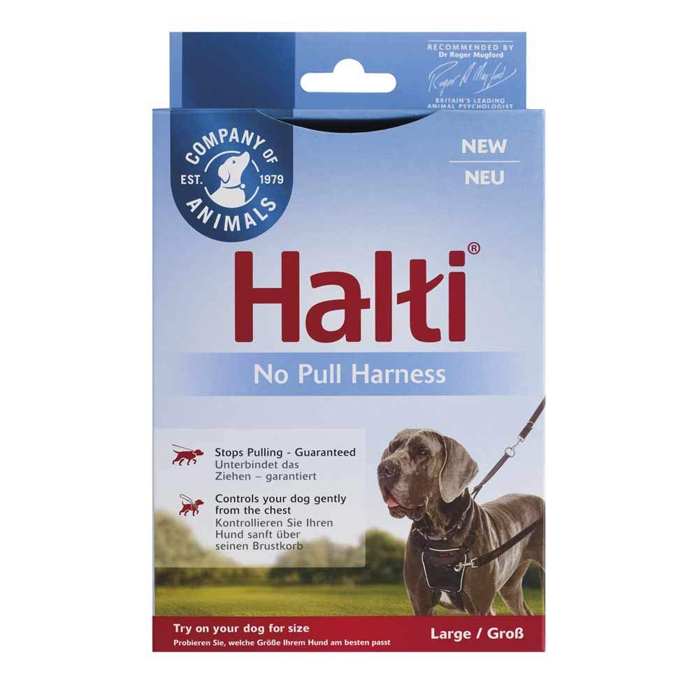 The Company of Animals Halti Dog Harness, No Pull Harness for Large Dogs, Stop Dog Pulling on Walks with Halti Dog Harnesses, for Large Dogs by The Company of Animals
