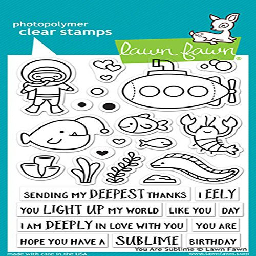 Lawn Fawn Clear Stamps 4''X6'' - LF1686 You Are Sublime by Lawn Fawn