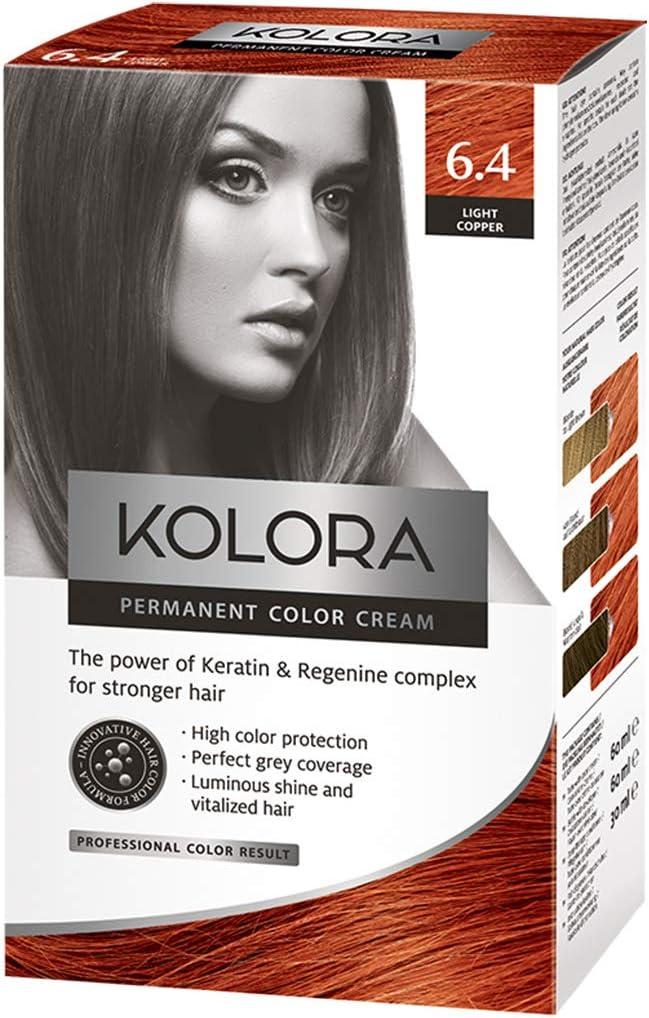 AROMA Tinte para cabello 6.4 Kolora Light Copper 60 ml1 ...