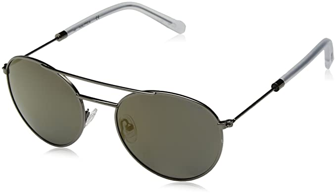 cb480a23c3 Image Unavailable. Image not available for. Color  Nautica Men s N4633sp  Polarized Round Sunglasses GUNMETAL 52 mm