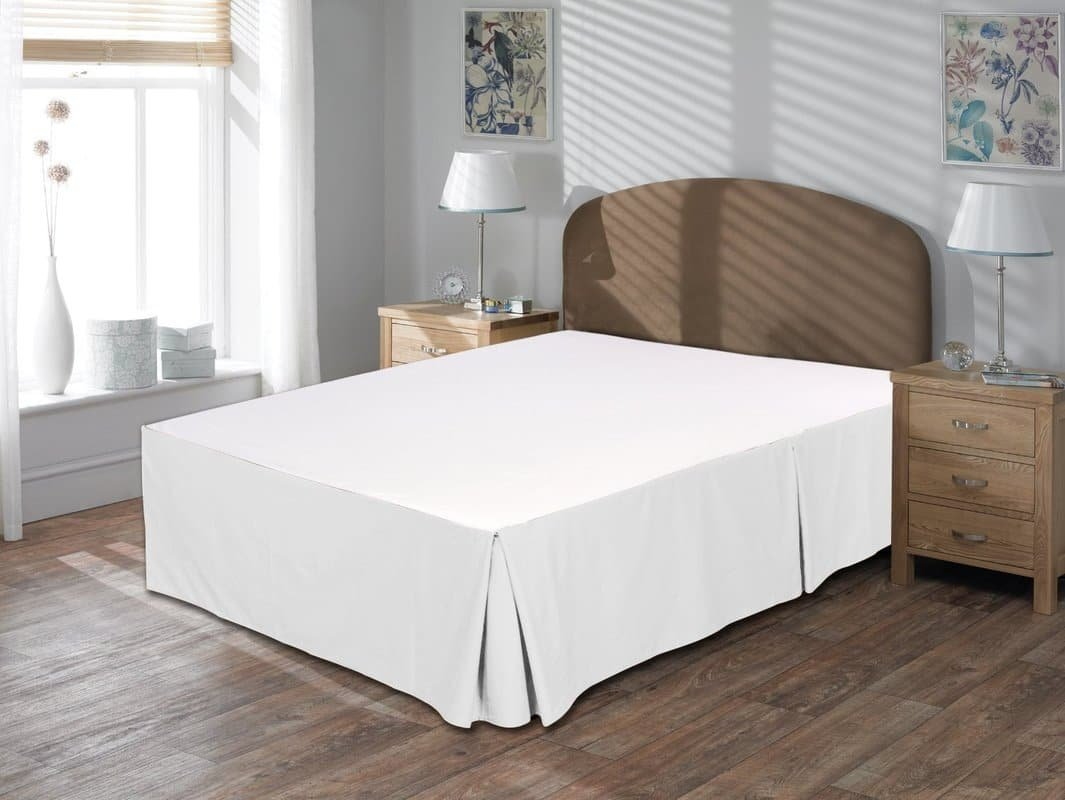 - 100/% Egyptian Cotton Finest Quality Long Staple UHCBeddings 15 Drop Length Unique Hotel Collection Cotton 500TC Sateen Wave Bed-Skirt 600 Thread Count Durable King, White
