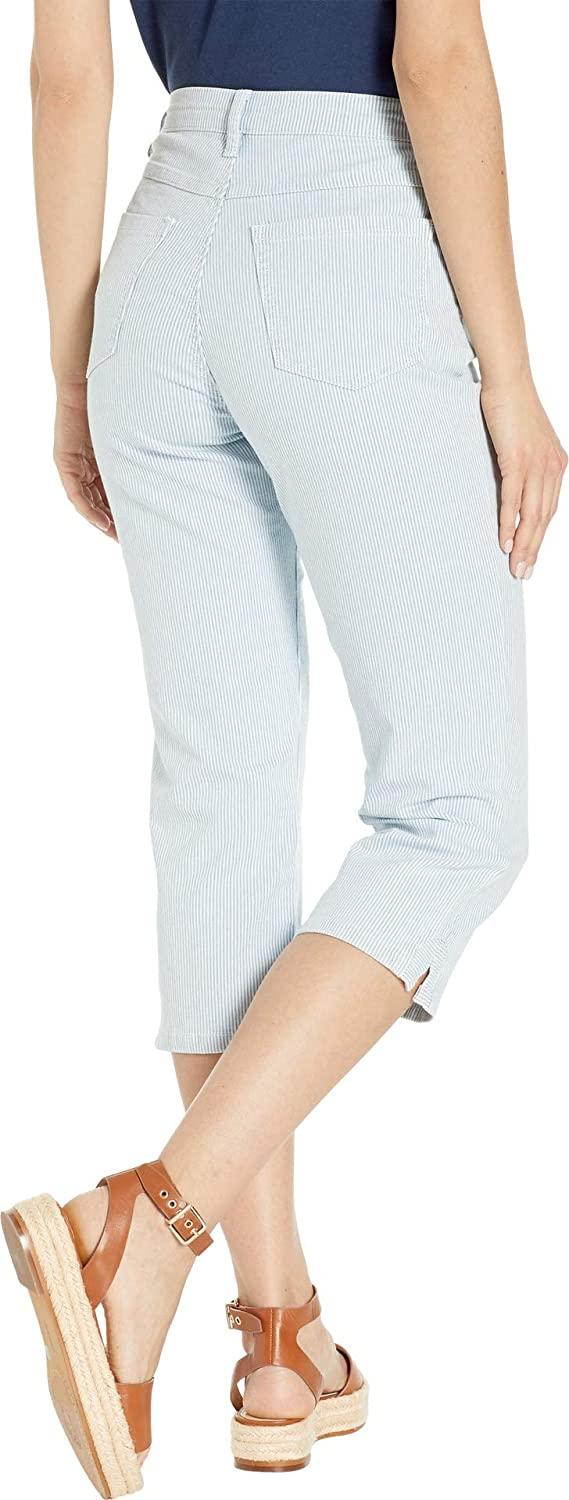 FDJ French Dressing Jeans Womens Stripe Denim Suzanne Capris in Chambray