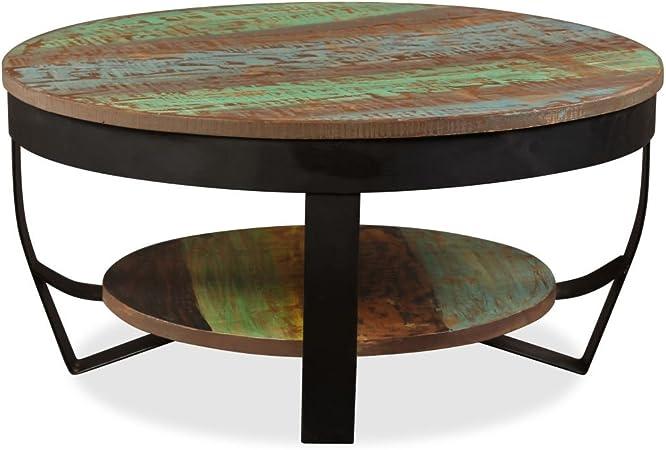 Tidyard Table Basse Rond Table De Salon Table Basse Relevable