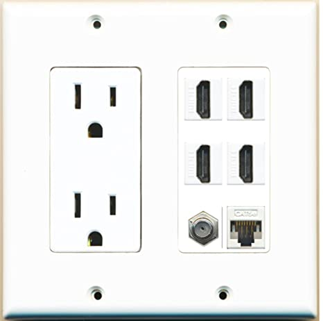 amazon riteav 15a power outlet 4 hdmi 1 cat5e ethernet 1 HDMI Cord riteav 15a power outlet 4 hdmi 1 cat5e ethernet 1 coax cable tv