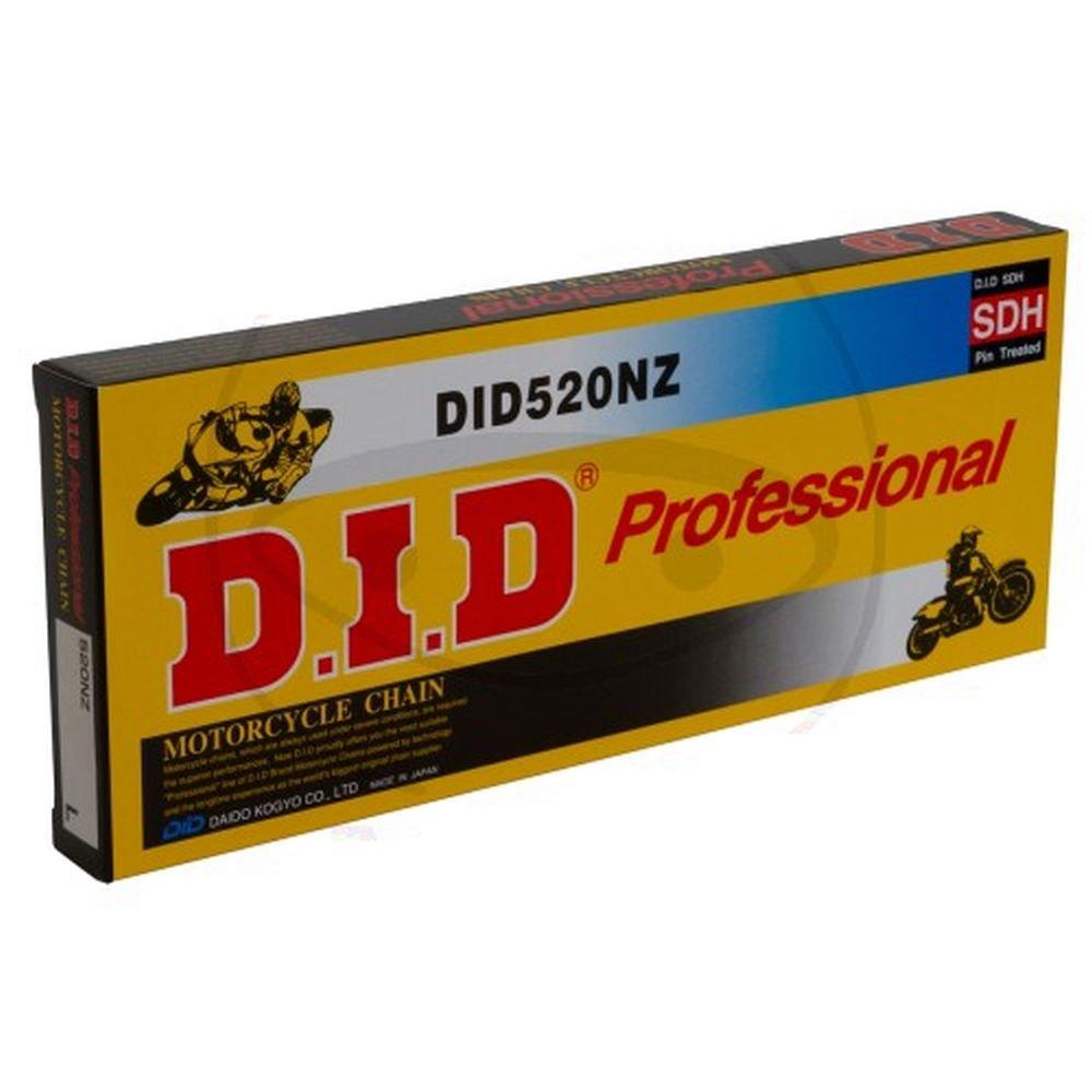 DID Cadena 520 NZ, 96 eslabones (está ndar), abierto con clip Candado 96eslabones (estándar) Daido Kogyo Co. LTD. 520NZX096FB