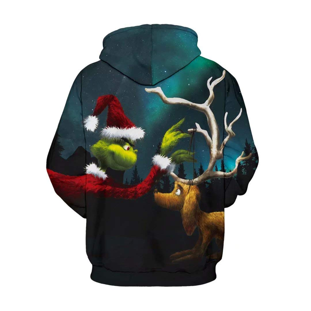 MZTYPLK 3D Digital Printing Pullover Pocket Hoodie Sweatshirt Fashionable Masks