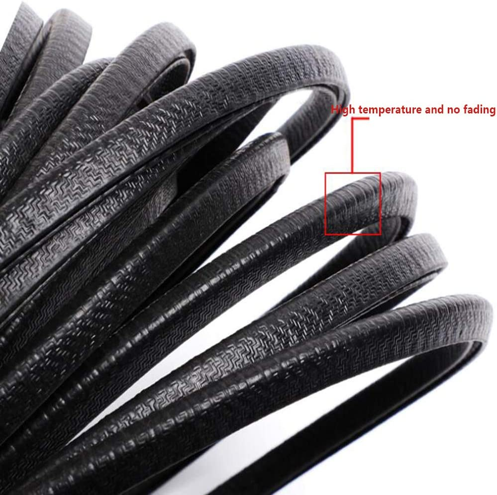 Car Door Anti-Collision Strips Self-Adhesive Sealing Strips Anti-Scratch Rubber Strip Decorations are Generally Applicable to All 4 Doors CJXSP Car Sealing Strips 16.4ft Car Hoods
