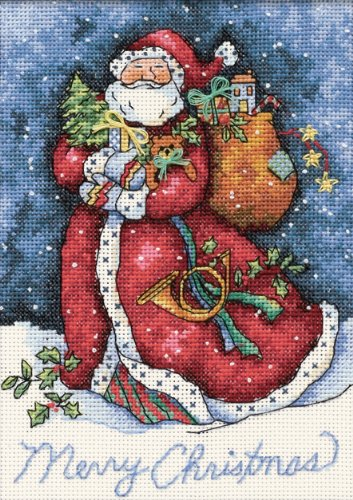 Dimensions Needlecrafts Counted Cross Stitch, Merry Christmas Santa