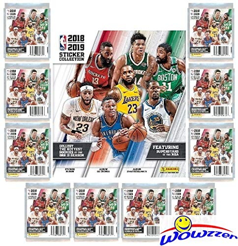 (2018/19 Panini NBA Basketball Stickers Special Collectors Package with 60 Brand New MINT Stickers & 72 Page Collectors Album! Look for Stickers of Lebron, Durant, Mitchell, Curry & Many More! WOWZZER!)