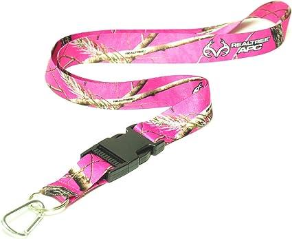 4 Realtree Pink Camo Keychain /& Carabiner ~ New