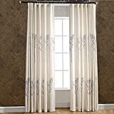 Drapes Tree Blackout Curtains Grommet -KoTing 1 Panel Blackout Lined Curtains Print Tree Drapes 84 inch Long for Bedroom(Personalized)