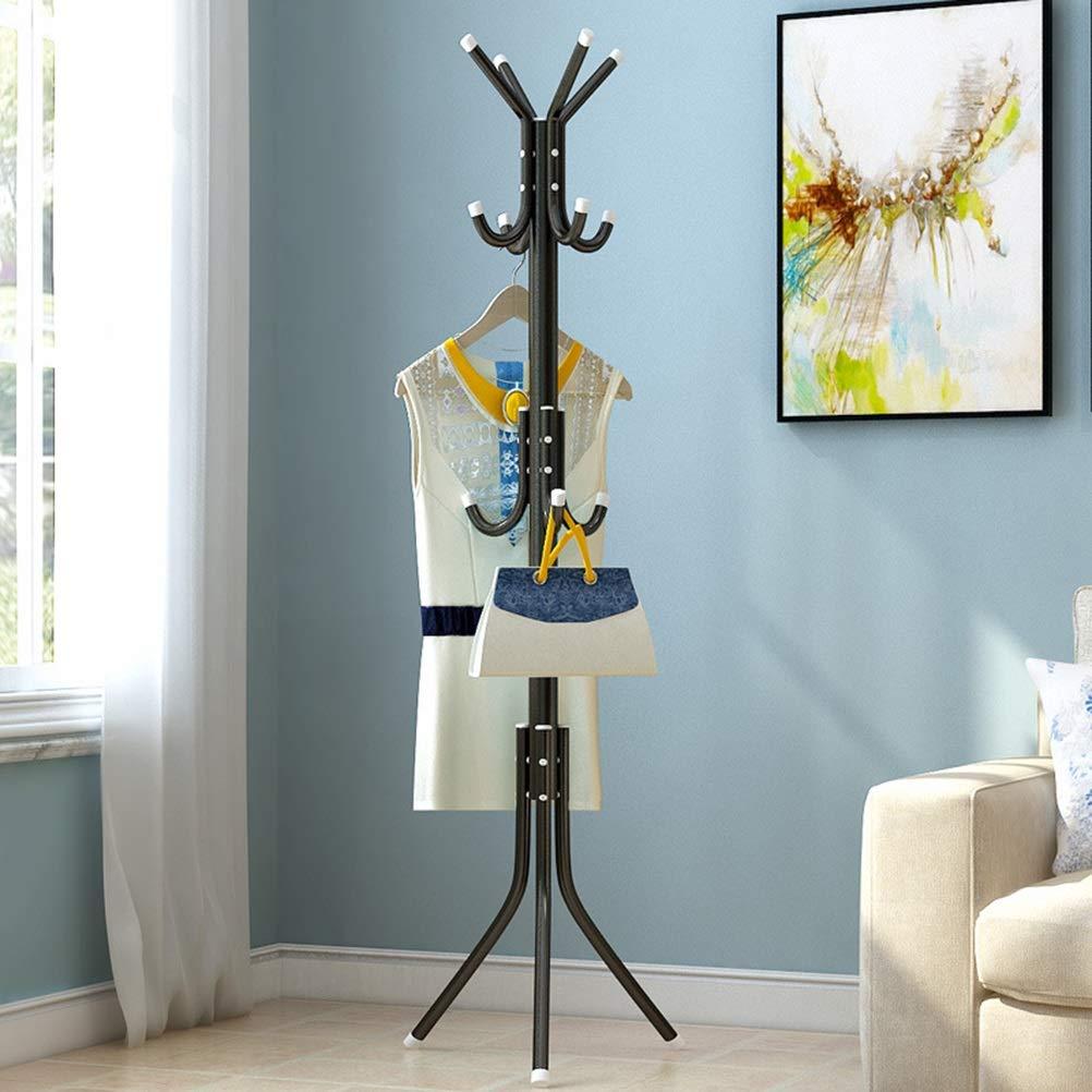 Amazon.com: Angels home Simple Black Coat Rack Floor ...