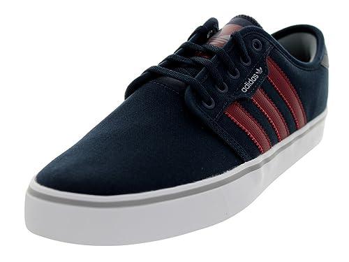 quality design 942ec d51aa adidas Seeley Skate Shoe - Men s Navy Burgundy White, ...