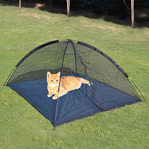 Strong Camel Large Outdoor Indoor Happy Mosquito Habitat for Cats Dog Pet Play House Playpen Feline Funhouse portable exercise Tent & Cat Tents for Outside: Amazon.com