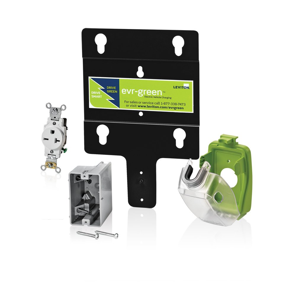 Leviton EVK02-M Evr-Green Pre-Wire Installation Kit for 16A Charging ...