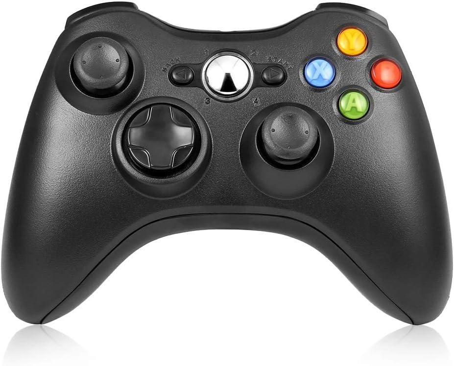 Xbox 360 Controller Wireless, RegeMoudal Mando Pare Microsoft Xbox 360 Inalámbrico Gamepad Controlador Joypad con Vibración Doble Ergonomía Windows 10/8.1/8/7/XP Bluetooth 10 Metros