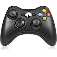 Controller Wireless Xbox 360,RegeMoudal Game Controller per Xbox 360,Portable Gaming joystick Handle Supporto per Xbox 360,Windows 10 / 8,1/8 /7(Nero)