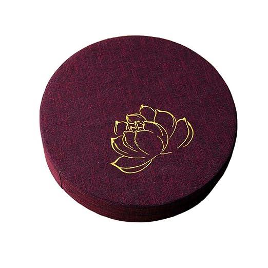 Fancy Pumpkin [Bordado Lotus] Budista Asiento Mat Yoga ...