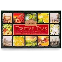 Ahmad Tea Twelve Teas Collection of 12 Black, Fruit & Green Teas, 60 Teabags