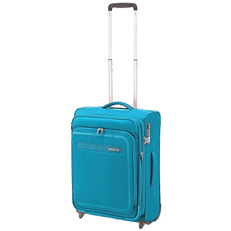 American Tourister Airbeat - Upright 55/20 Expandable Equipaje de Mano, 55 cm, 48 Liters, Azul (Sky Blue)